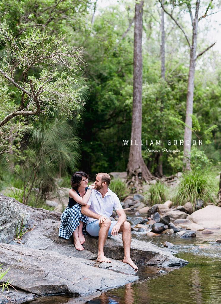 190303 0052 wedding photographer brisbane engagement samford moreton bay rocky creek stream tall trees
