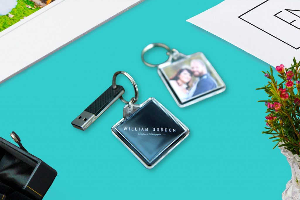keyring wedding digital files share online social media